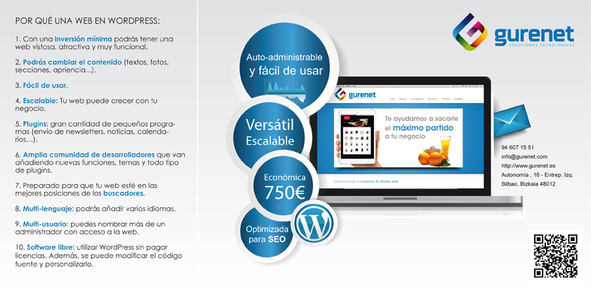 Oferta diseño web en Wordpress