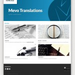 Diseo de pgina web de Mevo Translations