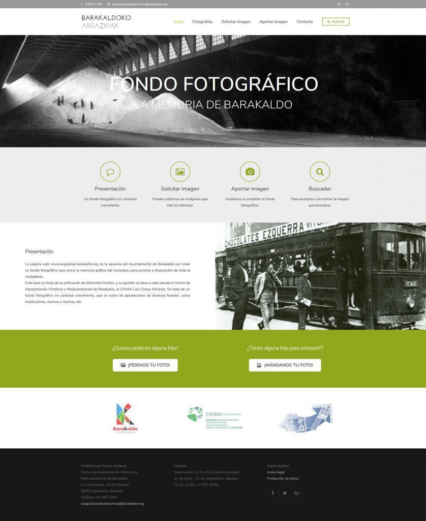 Diseño web fondo fotográfico Ayuntamiento de Barakaldo