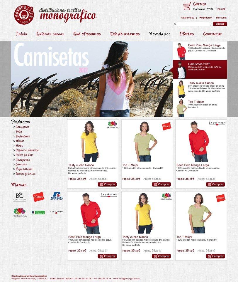 Diseño página web de Monográfico
