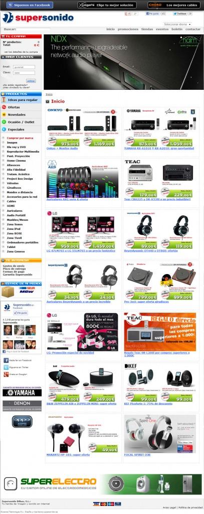 Diseño página web Supersonido