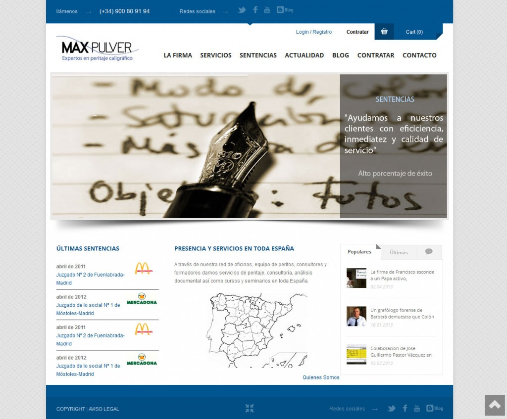 Diseño web Maxpulver