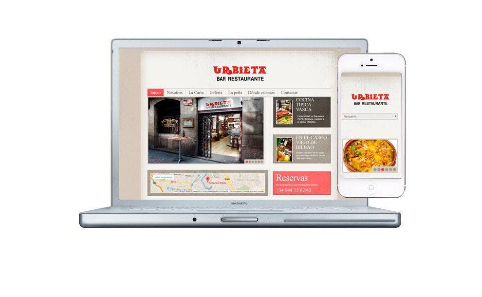 Diseño web Restaurante Urbieta