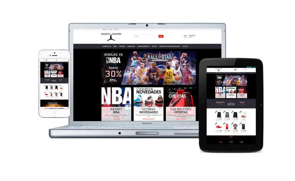 Diseño tienda on-line Basket Country responsive