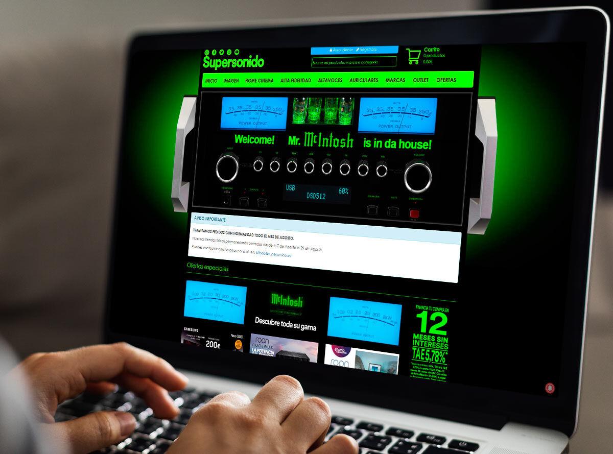 Diseño nueva portada web Supersonido