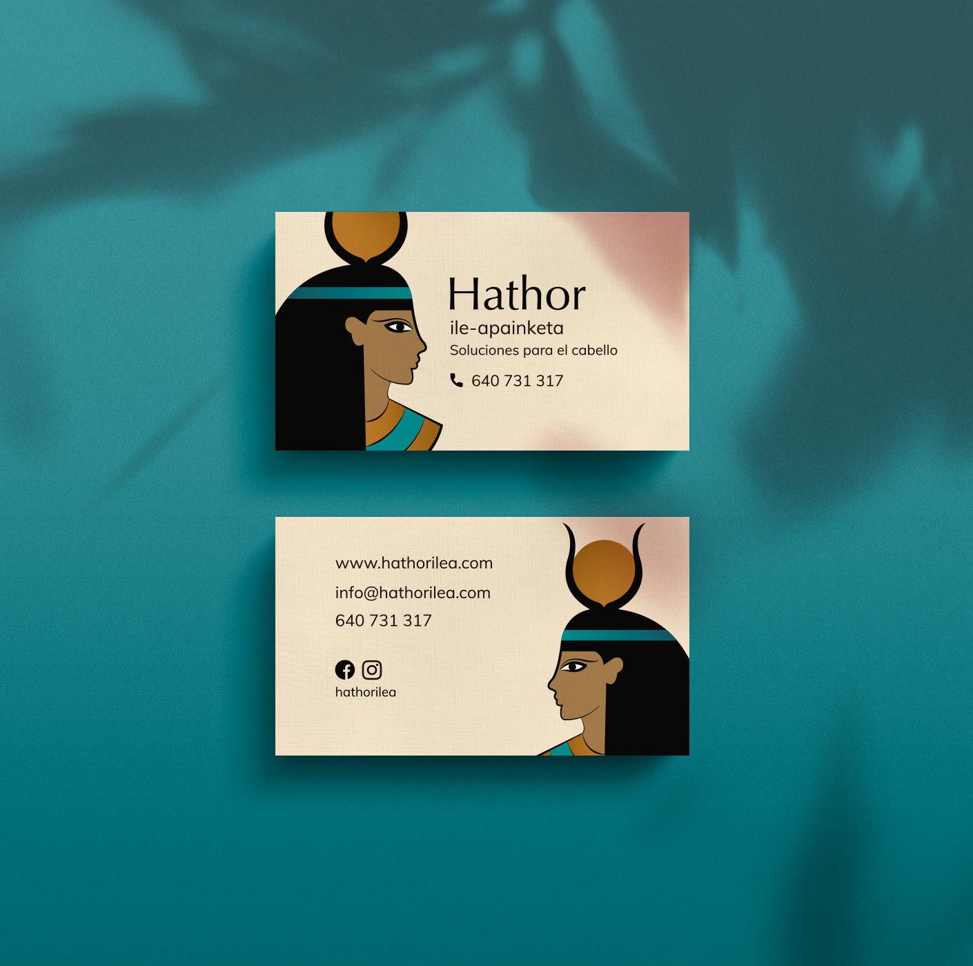 Diseño de tarjetas de visita de Hathor ile-apainketa